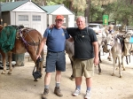 Brian Field and Bill Qualls - Saturday hike to Spruce Grove Campground.