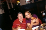 Jim Brakebill and Cheryl (Fine)Malm - Pizza Friday Night after the game.