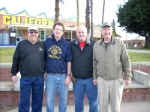 Calhi Cross Country alumni Dan McMillan, Jim Danielsen, Bill Qualls, Coach Lew Jones. Coach was unable to join us for th